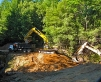 Excavation for a culvert replacement on a Forest Service Road